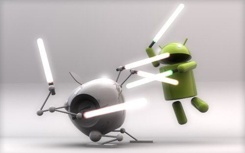 "Smart Phone Wars: ""When I left you I was but the learner.  Now I am the master."""